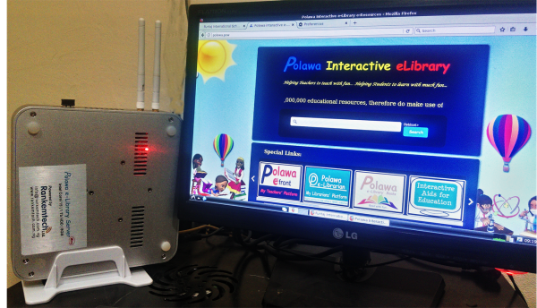 Polawa Offline Internet e-Library running in Glisten International Academy